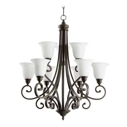 Quorum Lighting Quorum Lighting Bryant Oiled Bronze Chandelier 6154-9-186