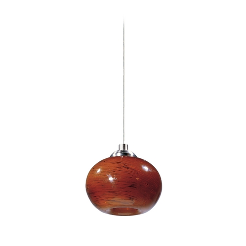 ET2 Lighting Modern Low Voltage Mini-Pendant Light with Amber Glass E94435-106SN