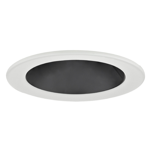 Recesso Lighting by Dolan Designs Black Open Reflector PAR20 Trim for 4-Inch Recessed Cans T400B-WH