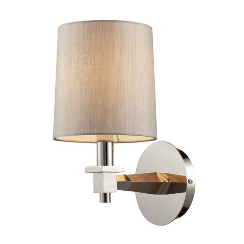 Elk Lighting Modern Sconce Wall Light in Polished Nickel Finish 31330/1