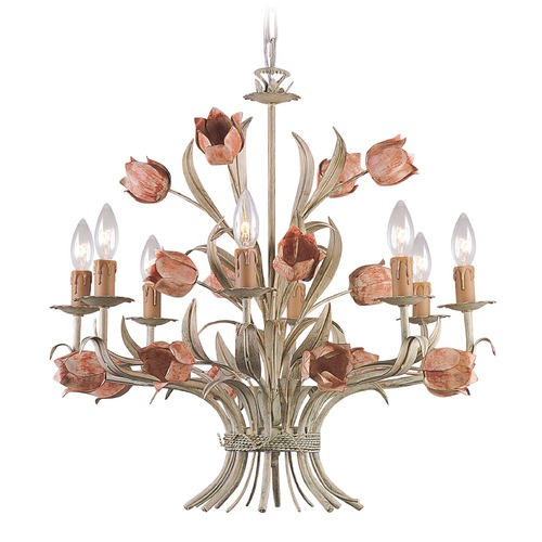 Crystorama Lighting Crystorama Lighting Southport Sage/rose Chandelier 4808-SR