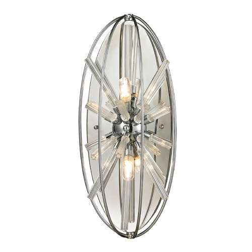 Elk Lighting Modern Sconce Wall Light in Polished Chrome Finish 11560/2