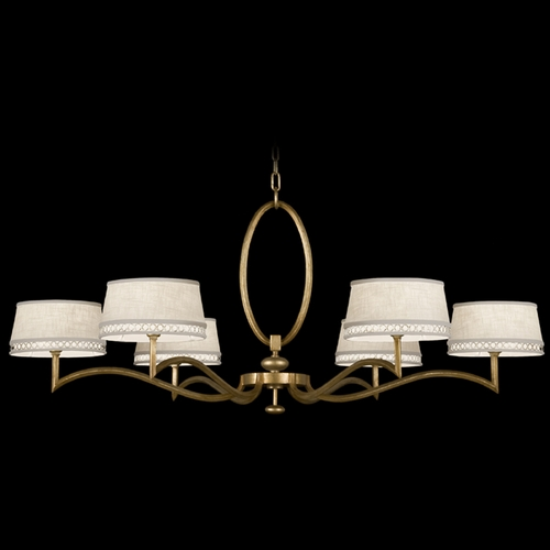 Fine Art Lamps Fine Art Lamps Allegretto Gold Burnished Gold Leaf with Subtle Brown Highlights Chandelier 771740-2ST