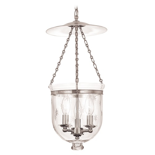 Hudson Valley Lighting Hudson Valley Lighting Hampton Polished Nickel Pendant Light with Bowl / Dome Shade 255-PN-C3