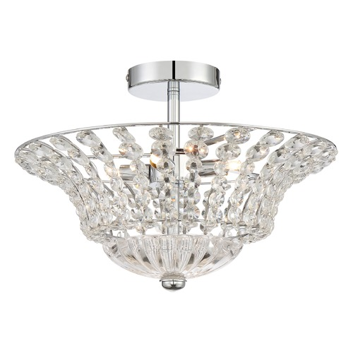 Quoizel Lighting Quoizel Lighting Platinum Collection Crowne Polished Chrome Semi-Flushmount Light PCCR1717C