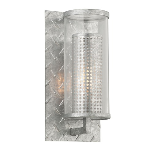Troy Lighting Troy Lighting Murdoch Painted Galvanized Outdoor Wall Light B4621PGA