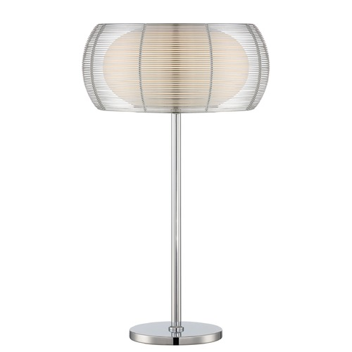 Lite Source Lighting Lite Source Chrome Table Lamp with Oblong Shade LS-22767