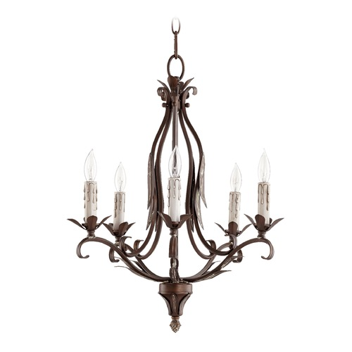 Quorum Lighting Quorum Lighting Flora Vintage Copper Mini-Chandelier 6172-5-39