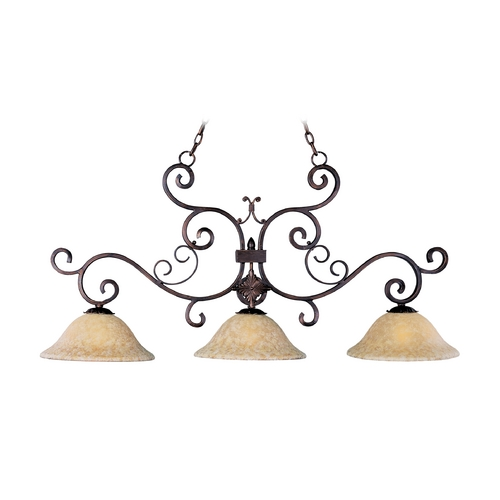 Maxim Lighting Island Light with Amber Glass in Oil Rubbed Bronze Finish 20637VAOI