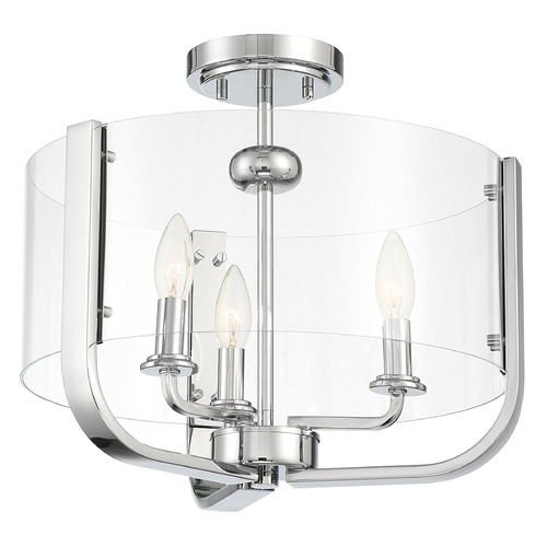 Eurofase Lighting Eurofase Lighting Campisi Chrome Semi-Flushmount Light 38156-021