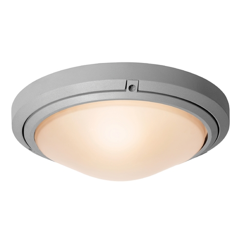 Access Lighting Outdoor Wall Light with White Glass in Satin Nickel Finish 20356MG-SAT/FST