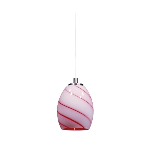 ET2 Lighting Modern Low Voltage Mini-Pendant Light with Multi-Color Glass E94436-107SN