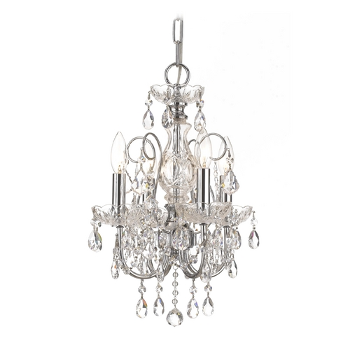 Crystorama Lighting Crystal Mini-Chandelier in Polished Chrome Finish 3224-CH-CL-MWP