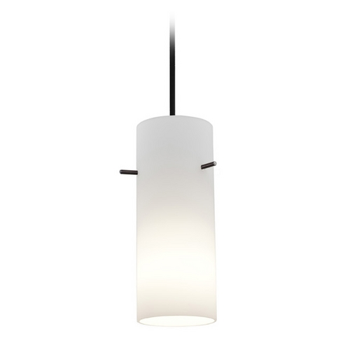 Access Lighting Access Lighting Tali Cylinder Oil Rubbed Bronze Mini-Pendant with Cylindrical Shade 28030-2C-ORB/OPL