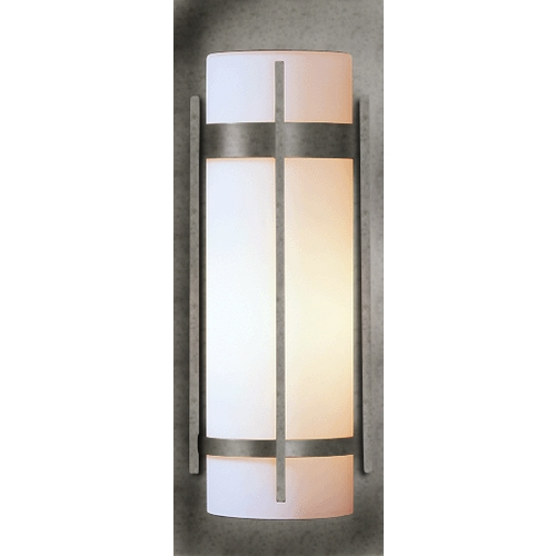 Hubbardton Forge Lighting Outdoor Wall Light with Opal Glass - 20-4/5-Inches Tall 305894-20-G37