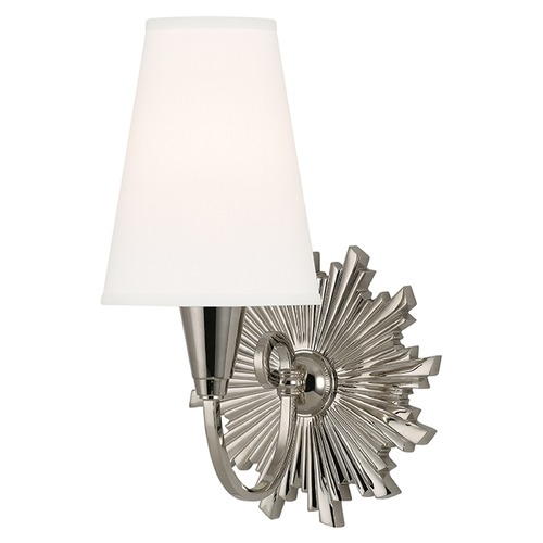 Hudson Valley Lighting Bleecker 1 Light Sconce - Polished Nickel 5591-PN-WS