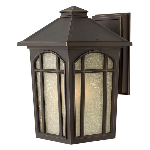 Hinkley Lighting Outdoor Wall Light with White Glass in Oil Rubbed Bronze Finish 1984OZ-GU24