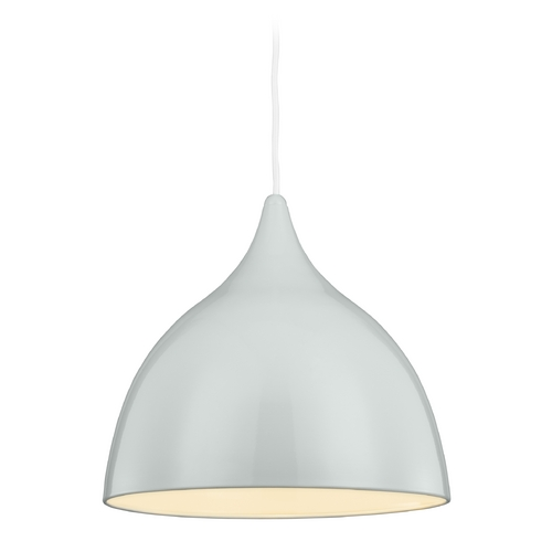 Feiss Lighting Feiss Lighting Dutch Sprout Green Pendant Light with Bowl / Dome Shade P1298SPGN