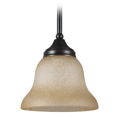 Sea Gull Lighting Sea Gull Lighting Brockton Burnt Sienna Mini-Pendant Light with Bell Shade 61174BLE-710