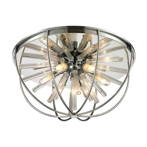 Elk Lighting Modern Flushmount Light in Polished Chrome Finish 11561/6