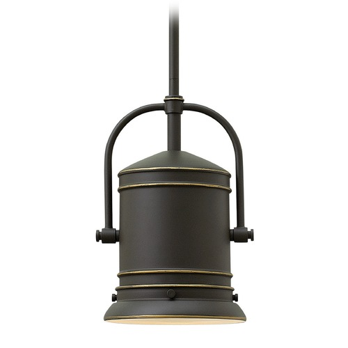 Hinkley Lighting Hinkley Lighting Pullman Oil Rubbed Bronze Mini-Pendant Light with Cylindrical Shade 3254OZ