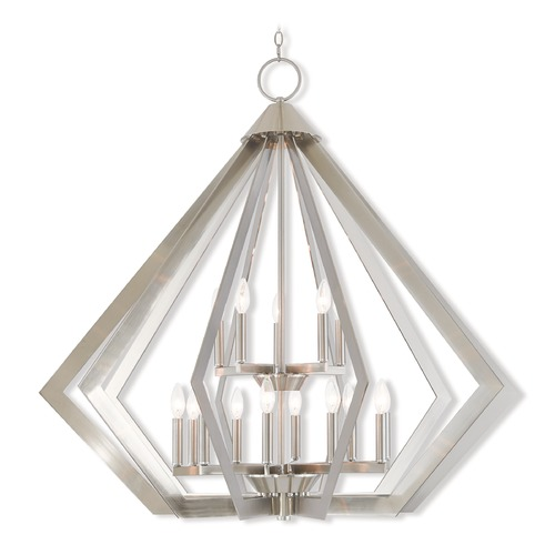 Livex Lighting Livex Lighting Prism Brushed Nickel Pendant Light 40928-91