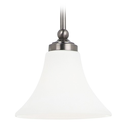 Sea Gull Lighting Mini-Pendant Light with White Glass 61180-965