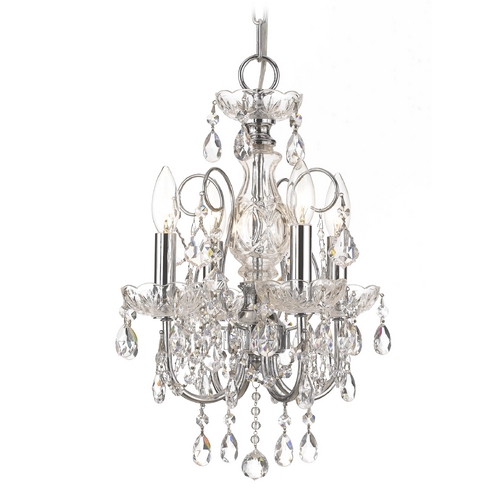 Crystorama Lighting Crystal Mini-Chandelier in Polished Chrome Finish 3224-CH-CL-S