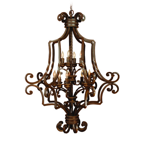 Craftmade Lighting Craftmade Riata Aged Bronze Textured Chandelier 8133AG12