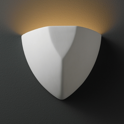 Justice Design Group Sconce Wall Light in Bisque Finish CER-5800-BIS