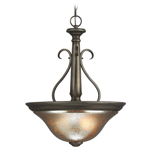 Sea Gull Lighting Mercury Glass Pendant Light Bronze Sea Gull Lighting 6670403-736