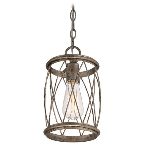 Quoizel Lighting Quoizel Dury Century Silver Leaf Mini-Pendant Light RDY1506CS