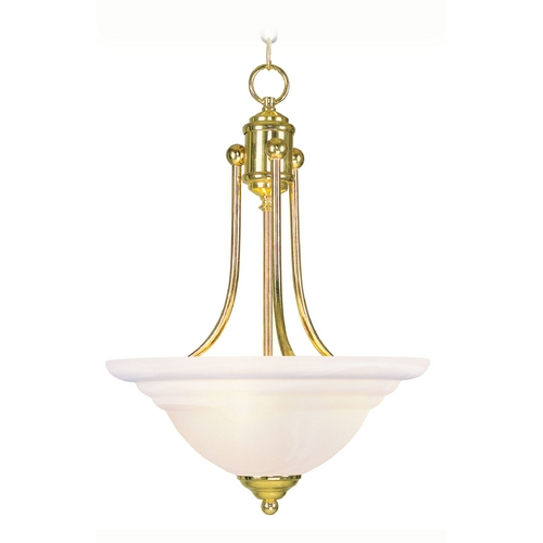 Livex Lighting Livex Lighting North Port Polished Brass Pendant Light with Bowl / Dome Shade 4264-02