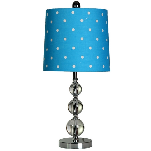 StyleCraft Stylecraft Stacked Ball Steel and Acrylic Blue Table Lamp L21216DS