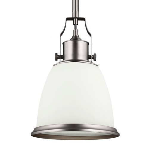 Feiss Lighting Feiss Hobson Satin Nickel Mini-Pendant Light P1352SN