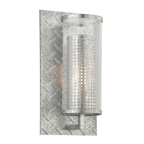 Troy Lighting Troy Lighting Murdoch Painted Galvanized Outdoor Wall Light B4622PGA