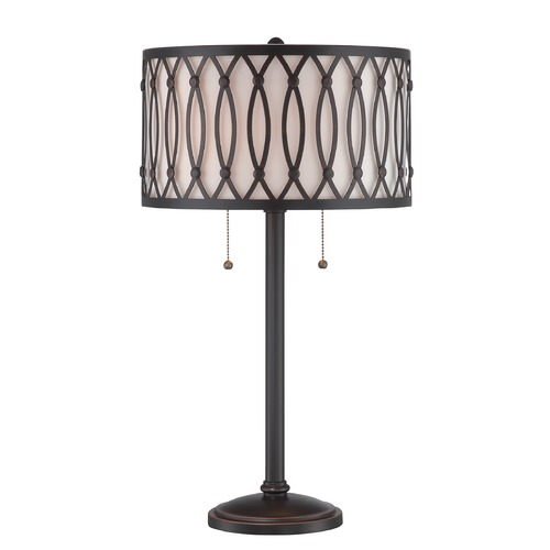 Lite Source Lighting Lite Source Dark Bronze Table Lamp with Drum Shade LS-22729