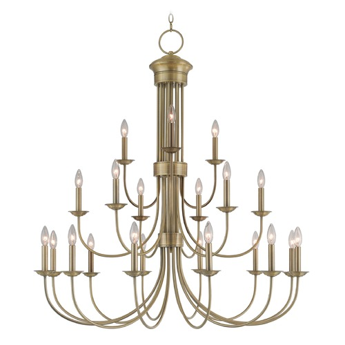 Livex Lighting Livex Lighting Estate Antique Brass Chandelier 42688-01