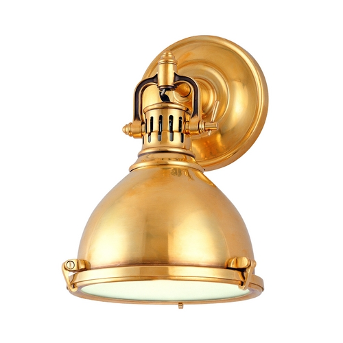 Hudson Valley Lighting Sconce Wall Light in Aged Brass Finish 2209-AGB