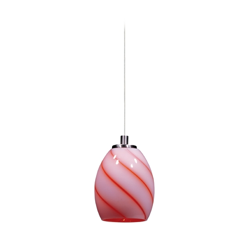 ET2 Lighting Modern Low Voltage Mini-Pendant Light with Orange Glass E94438-109SN