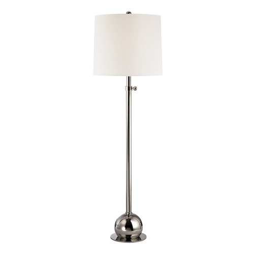 Hudson Valley Lighting Marshall Polished Nickel Floor Lamp with Cylindrical Shade L116-PN-WS