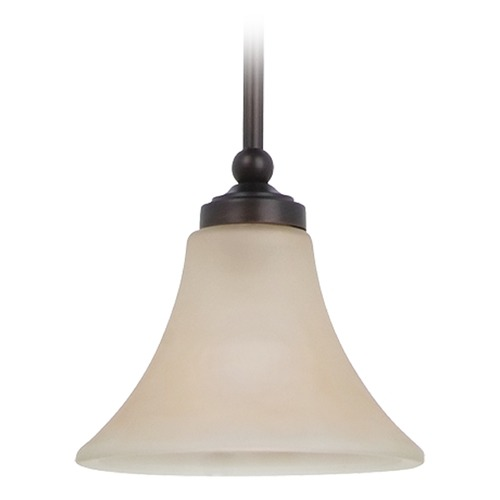 Sea Gull Lighting Mini-Pendant Light with Beige / Cream Glass 61180BLE-710