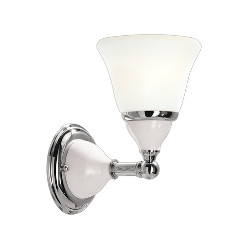 Hudson Valley Lighting Sconce with White Glass in Polished Nickel Finish 461-PN