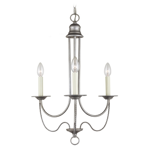 Sea Gull Lighting Mini-Chandelier in Weathered Pewter Finish 31290-57