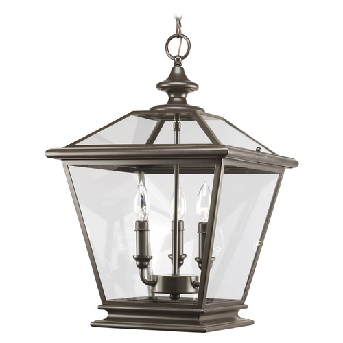 Progress Lighting Progress Pendant Light with Clear Glass in Antique Bronze Finish P3903-20
