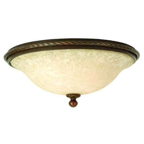 Jeremiah Lighting Jeremiah Riata Aged Bronze Textured Flushmount Light 8116AG3