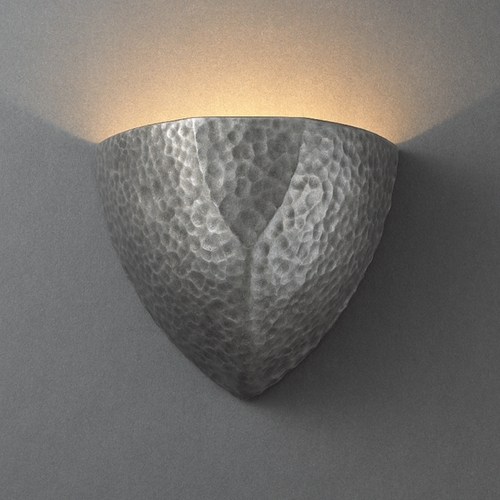 Justice Design Group Sconce Wall Light in Hammered Pewter Finish CER-5800-HMPW