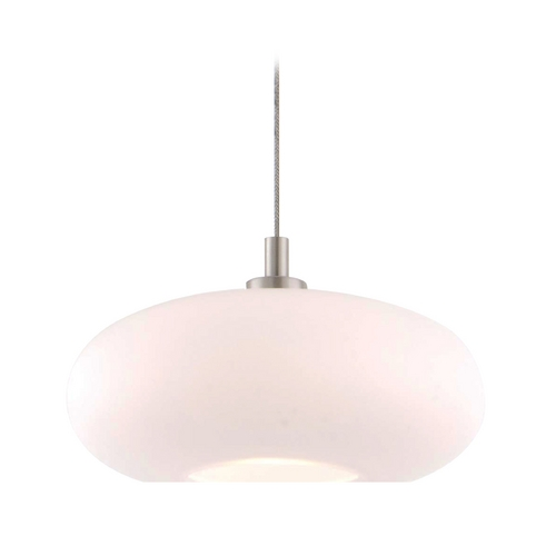 Holtkoetter Lighting Holtkoetter Modern Low Voltage Mini-Pendant Light with White Glass C8120 S006 G5701 SN