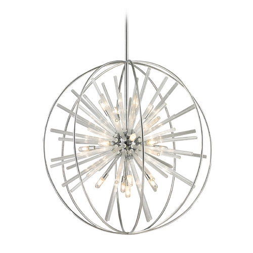 Elk Lighting Modern Pendant Light in Polished Chrome Finish 11563/15