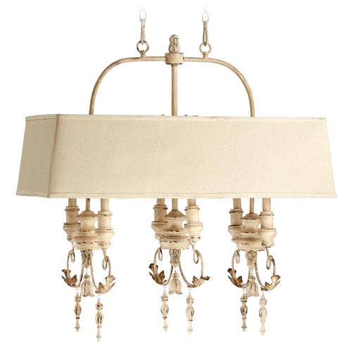 Quorum Lighting Quorum Lighting Salento Persian White Island Light with Rectangle Shade 6506-6-70